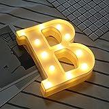 lulalula LED-Alphabet-Lichter, batteriebetrieben, A-Z, Kunststoff, für Zuhause, Hochzeit, Weihnachtsdekoration, Plastik, B, S
