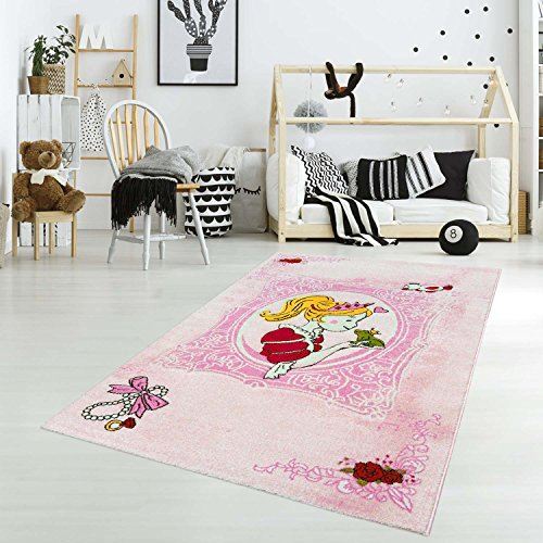 carpet city Kinderteppich Spielteppich Flachflor Junior mit Prinzessin/Froschkönig-Motiv in...