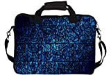 "Snoogg Abstract Blue Patterned 14"" 14.5"" 14.6"" inch Laptop Notebook SlipCase With Shoulder Strap Handle Sleeve Soft Case With Shoulder Strap Handle Carrying Case With Shoulder Strap Handle for Macbook Pro Acer Asus Dell Hp Sony Toshiba"