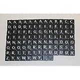 Nuevo Azulejos De Plástico Scrabble Cartas Plástico Negro & Letras Blancas - 100 Set de Piezas Del Juego Arte Y Artesanía Vintage