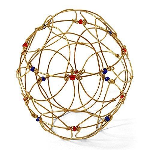 Gold Draht Mandala mit Edelsteine Hand Made Fair Trade