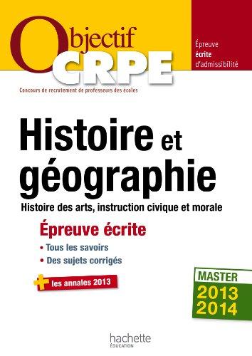 Objectif CRPE Épreuve écrite d'histoire et de géographie