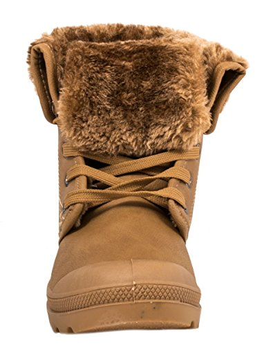 Outdoor Worker Warm Elara Khaki Boots Stiefeletten Grönland Schnürrer Damen Gefütterte Bequeme nS0061