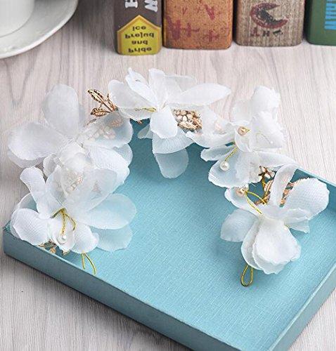 KHSKX-Die Braut Rosa Blume Blumen - Kopfschmuck Süß - Fan Verheiratet Haar Haarspange Flitterwochen Foto Foto Hochzeit Zubehör - Braut-fans
