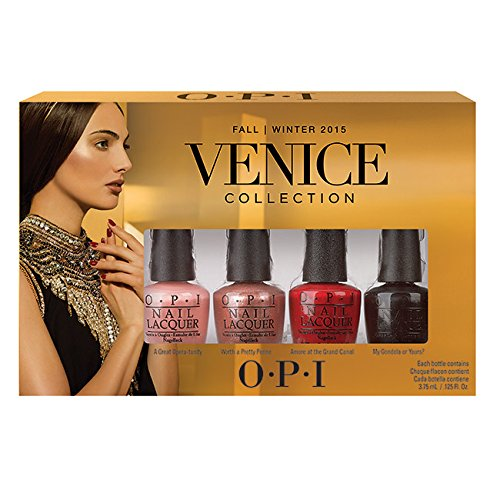 OPI Smalto per Unghie Mini Kit, Venice Mini Kit, 4 x 5.4 ml