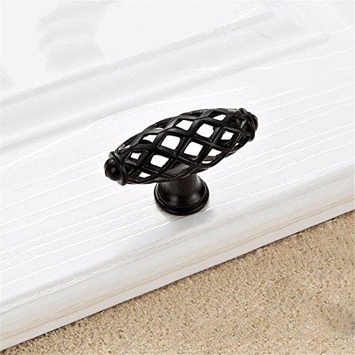 Mmdlai maniglia moderna dell'armadietto della maniglia della porta della porta del guardaroba della maniglia nera minimalista a manopole maniglia