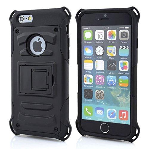 iPhone 6Plus Coque, meaci (TM) Coque pour iPhone 6Plus 14cm Combo hybride Defender ArmorBox Coque rigide en plastique et bumper en silicone souple avec support clip rotatif CASEE (typ