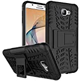 Dream2cool FOR Samsung Galaxy J7 Prime / On 7 (2016) / On Nxt Tough Hybrid Flip Kick Stand Spider Hard Dual Shock Proof Rugged Armor Bumper Back Case Cover For Samsung Galaxy J7 Prime / On 7 (2016) / On Nxt - BLACK