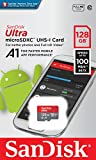 SanDisk 128GB Class 10 microSDXC Memory Card with Adapter (SDSQUAR-128G-GN6MA)