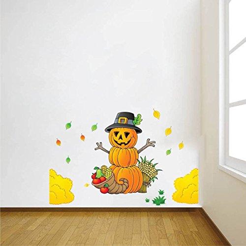 ZigRocket Hallowen Kürbis DIY Wandaufkleber Entfernung Vinyl Home Decor Wand Dekor Aufkleber Wandbilder 65 x 10 cm