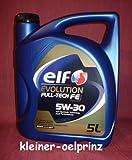 ELF Car lubrifiant Evolution Full-Tech FE 5W30 5 litres