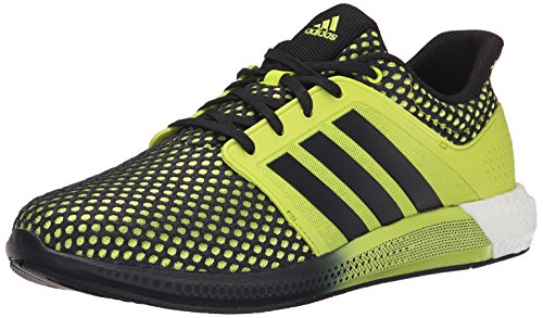 Adidas Performance Solar Boost M Running Shoe, Collegiate Navy / blanc / collégiale Royal, 4 M Us Semi Solar Yellow/Black/Semi Solar Yellow