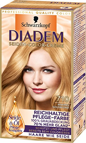 Diadem Seiden-Color-Creme, 710 warmes Goldblond, 3er Pack (3 x 142 ml)