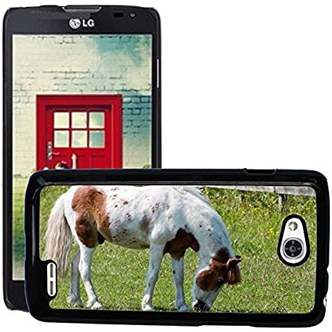 Just Cover Hot Style-Custodia rigida per cellulare, motivo: cavallo/Pony M00140281 pascolo Pretty/Equine D415 Optimus LG L90
