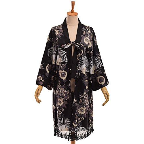 GRACEART Damen Lockere Kimono Nachtkleid (Robe Schiere Ärmel Lange)