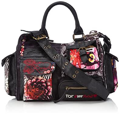 Desigual BOLS_JUNGLE NIGHT LONDON, 2000, U 40X51782000U, Damen Umhängetaschen, Schwarz (NEGRO 2000), 31 x 27 x 15 cm (B x H x T)