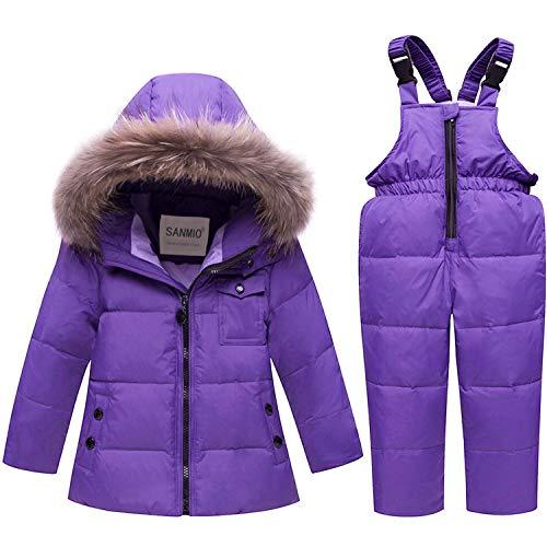 7a41f00c SANMIO - Abrigo para la Nieve - para niña Morado 100 (Altura 86/95 cm)