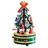 sunnymi Karussell-Spieldose Traum Weihnachten Holz Karussell Musik BoxOf Eight Box Christmas Tree (B, Mehrfarbig)