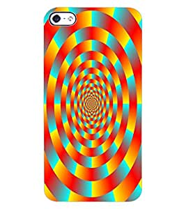 ColourCraft Lovely Colourful Pattern Design Back Case Cover for APPLE IPHONE 4S