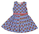 Always Kids Girls' Regular Fit Dress (Lollipop Dress Blue 2Y-$P, Blue, 3-4 Years)