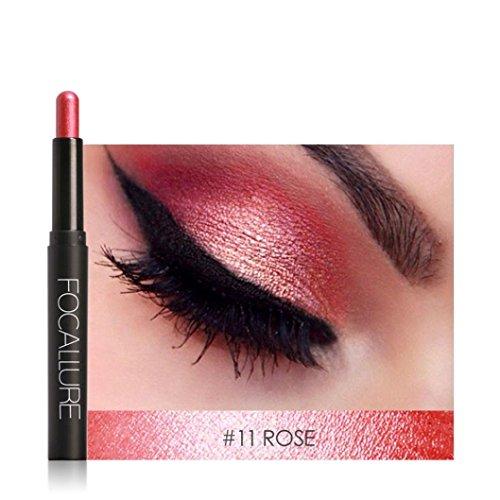 K : IGEMY Beauty Pro Highlighter Eyeshadow Pencil Cosmetic Glitter Eye Shadow Pen (K)