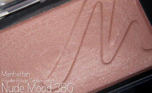 Manhattan Powder Rouge Tender Touch Nr. 38G nude mood Farbe: Rostbraun Inhalt: 3,5g Zartes Puder...