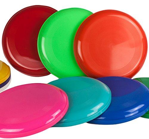 Frisbee Disc / Frisbees / Wurfscheiben farblich gemischt, 10 Stück (Nicht geeignet als Hundefrisbee!!)