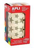APLI Kids - Rollo de gomets estrella, color oro