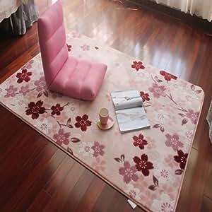 Diaidi Tapis Rose romantique Sakura Tapis de sol et tapis en acrylique Motif Floral moderne Tapis de sol Chambre Tapis Home Decor 6,5 X 9,8 cm
