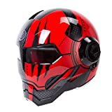 Mdsfe Flip Motorradhelm Motocross Fashion Atmungsaktiv Bequemer Sturzhelm Motorrad Motorrad...