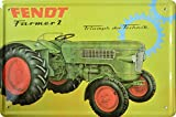 Dekoschild Traktor Fendt Farmer 2 20x30 cm Reklame Retro Blech Metal Sign XT12DO