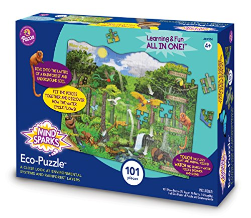 Mind Sparks Rainforest Eco-Puzzle (9354) Learning Game