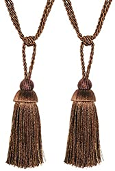 Deco Essential Tieback (Set of 2) Geet Chocolate/ Brown/ Moss