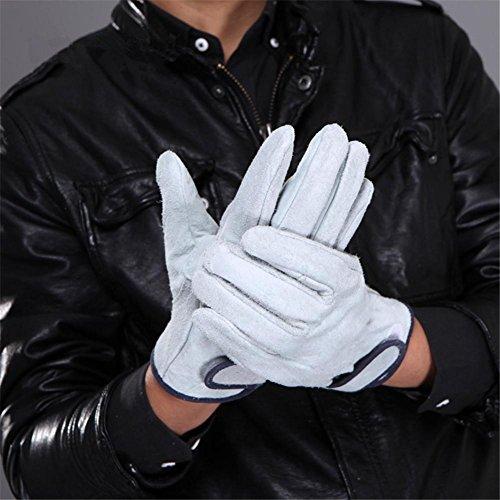 HomJo Oven Gloves Schweißhandschuhe Extrem hitzebeständige Grillhandschuhe 210 ° F Leder Baumwollfutter Anti-Bügeln Kochen Ofen Handschuhe Küche Outdoor