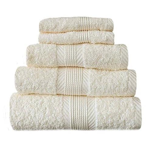 CL Home Face Cloth Colour: Cream