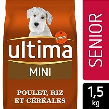 Ultima Croquettes pour Chien Spécial Mini Senior Poulet et Riz 1,5 kg