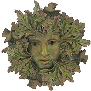 Green Spirit, Greenman Decorative Garden Wall Plaque. 12.5cm from Fiesta Studios