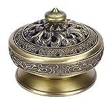 Incienso pequeño de Lotus Buda incienso bronce vintage quemador de incienso carbón estufa de lujo...