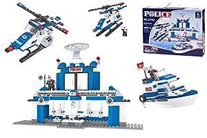 Ausini - Juego de construcción Comisaría marítima Policía - 422 piezas (ColorBaby 42233)