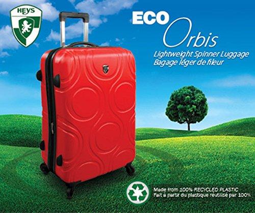 ... 50% SALE ... PREMIUM DESIGNER Hartschalen Koffer - Heys Core Eco Orbis Blau - Trolley mit 4 Rollen Gross Schwarz