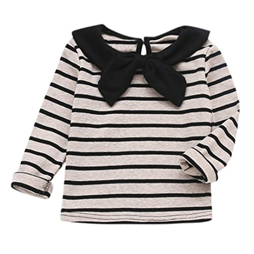 FOANA Girl Princess Dresses, Baby Girls Soft Long Sleeve Striped Soft Toddler Kids Tops Shirt Clothes