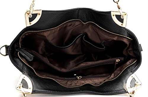 FZHLY Pelle Europa E Negli Stati Uniti Messenger Shoulder Bag Big Capacity,Brown DarkBlue
