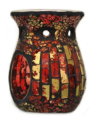 Rot Duftlampe (Davartis - Duftlampe Mosaik rot / gold)
