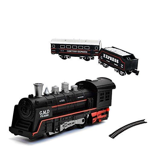 Elektrische Eisenbahn Starter-Set, Zug, Dampf-Lok , Soundsimulation, Modell-Lokomotive