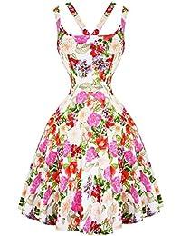 Hearts & Roses London Rosa Rosé Floral Retro 1950s Ausgestellt Party Tee Sommerkleid Hervorragende Qualität