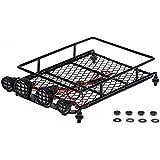 Goolsky Austar Roof Luggage Rack With LED Light Bar For 1/10 1/8 RC Cars Rock Crawler Rally 4WD CC01 CR01 D90 AXIAL SCX10