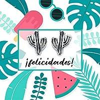 Pendientes Cactus Plata de Ley 925 - Regalos de cumpleaños para chica