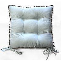 Charme et Douceur Cojín acolchado para silla Femina, algodón, 38 x 38 cm,