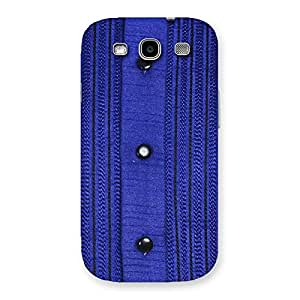 Delighted Royal Blue Sweat Print Back Case Cover for Galaxy S3