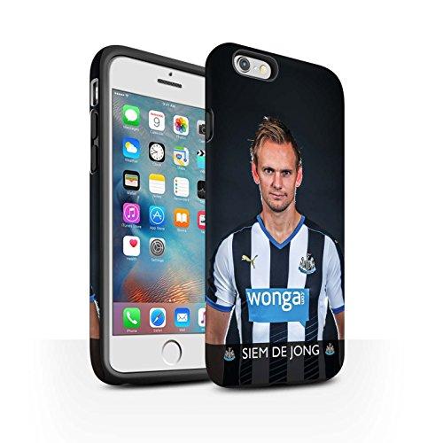 Offiziell Newcastle United FC Hülle / Matte Harten Stoßfest Case für Apple iPhone 6+/Plus 5.5 / Pack 25pcs Muster / NUFC Fussballspieler 15/16 Kollektion De Jong
